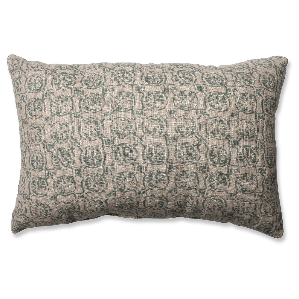 Pillow Perfect Castille Rectangular Throw Pillow - Green (18.5