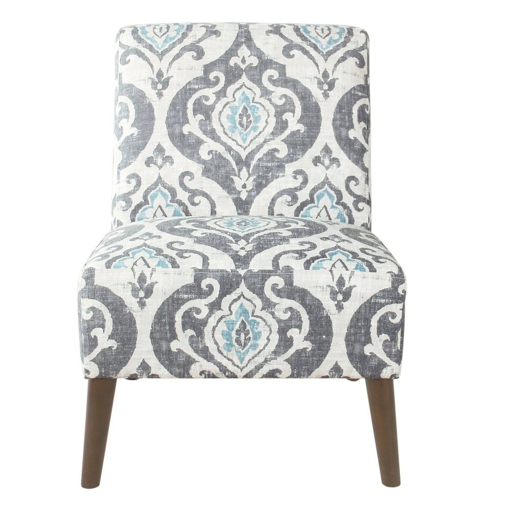 Modern Armless Accent Chair Blue Homepop