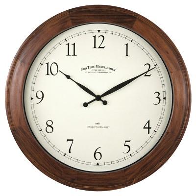 Garrison 16  Round Wall Clock Walnut - FirsTime®