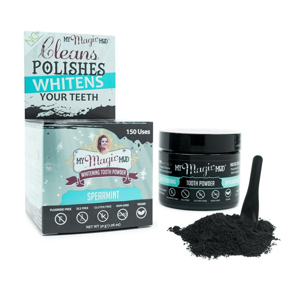 My Magic Mud Activated Charcoal Tooth Powder Spearmint - 1.06oz