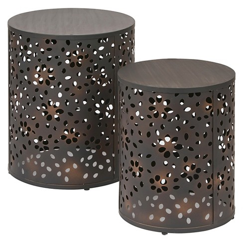 2pc Middleton Round Accent Table Set - OSP Home Furnishings - image 1 of 4