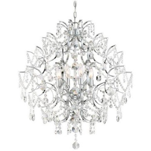 Minka Lavery 3158 Isabella S Crown 8 Light Chandelier With Crystal Accents Chrome