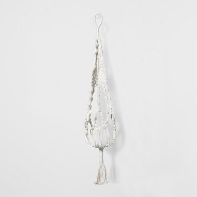 43  Novelty Macrame Hanging Planter - White - Opalhouse™