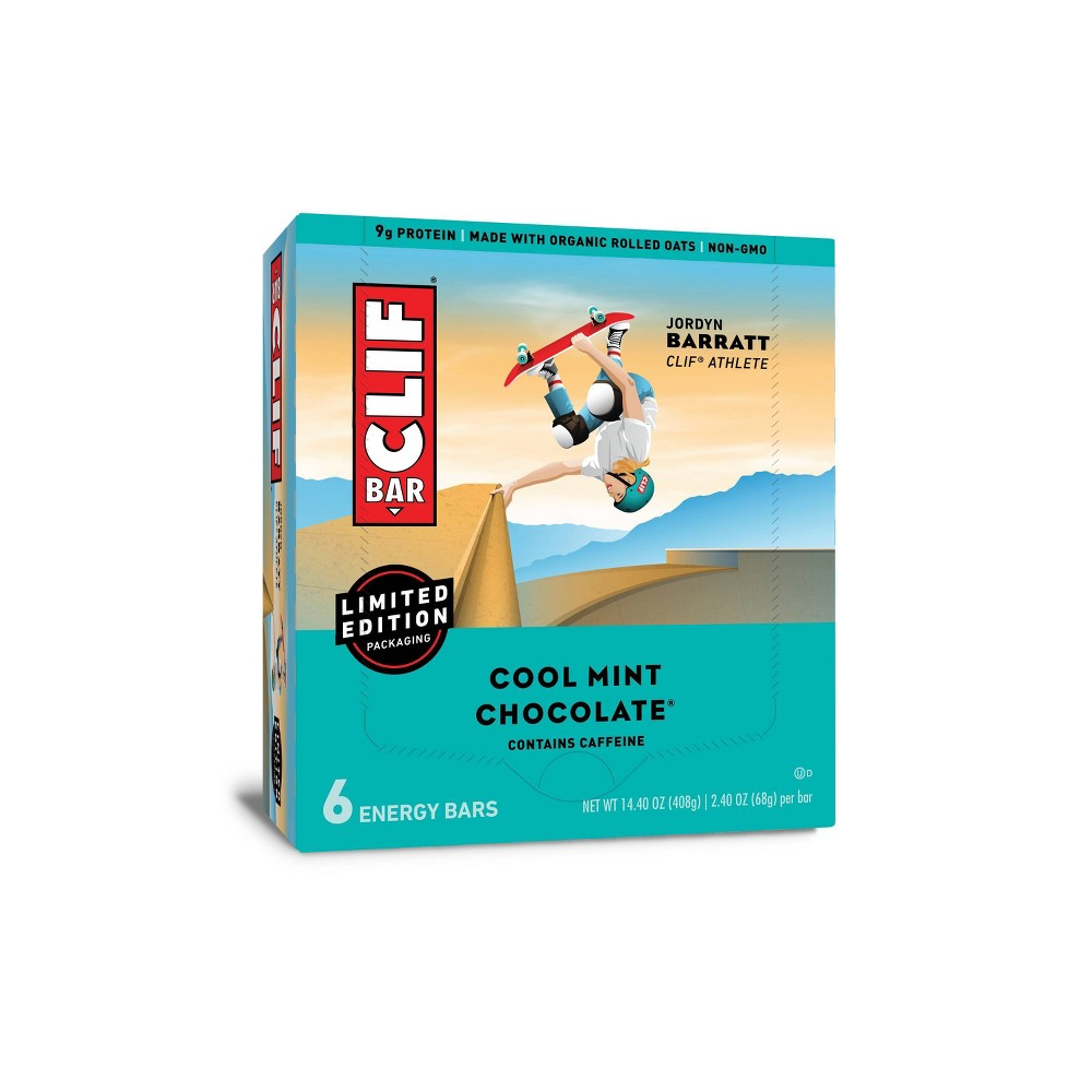 Clif Bar Cool Mint Chocolate Energy Bars 6ct