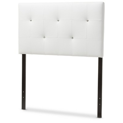 Kirchem Modern And Contemporary Faux Leather Upholstered Headboard - Baxton Studio