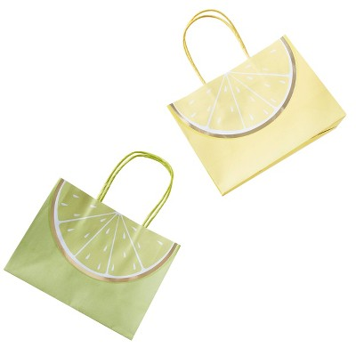 6ct Party Gift Bags Yellow