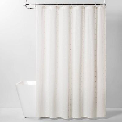 Swiss Dot Shower Curtain White - Threshold™