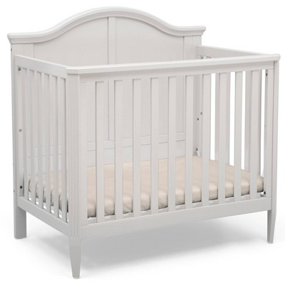 Delta Children Parker Mini Convertible Baby Crib with Mattress and 2 Sheets, Greenguard Gold Certified