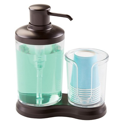 Gina Mouthwash Caddy Clear/Bronze - iDESIGN
