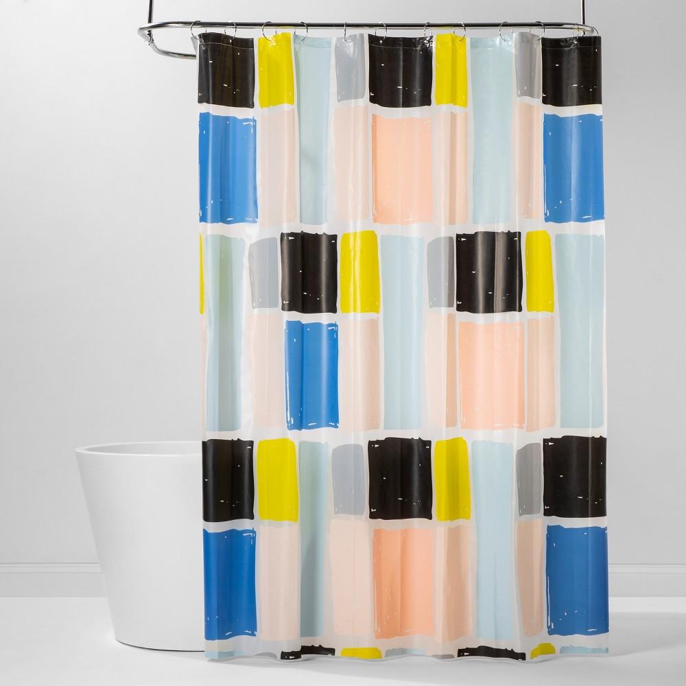 Image of PEVA Shower Curtain Colorblock - Room Essentials , Black Pink