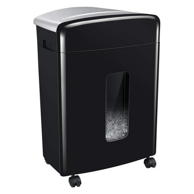 Bonsaii C222-B 16 Sheet High Security Micro Cut Credit Card and Paper Service Shredder w/ 6.6 Gallon PullOut Waste Basket For Homes & Offices, Black
