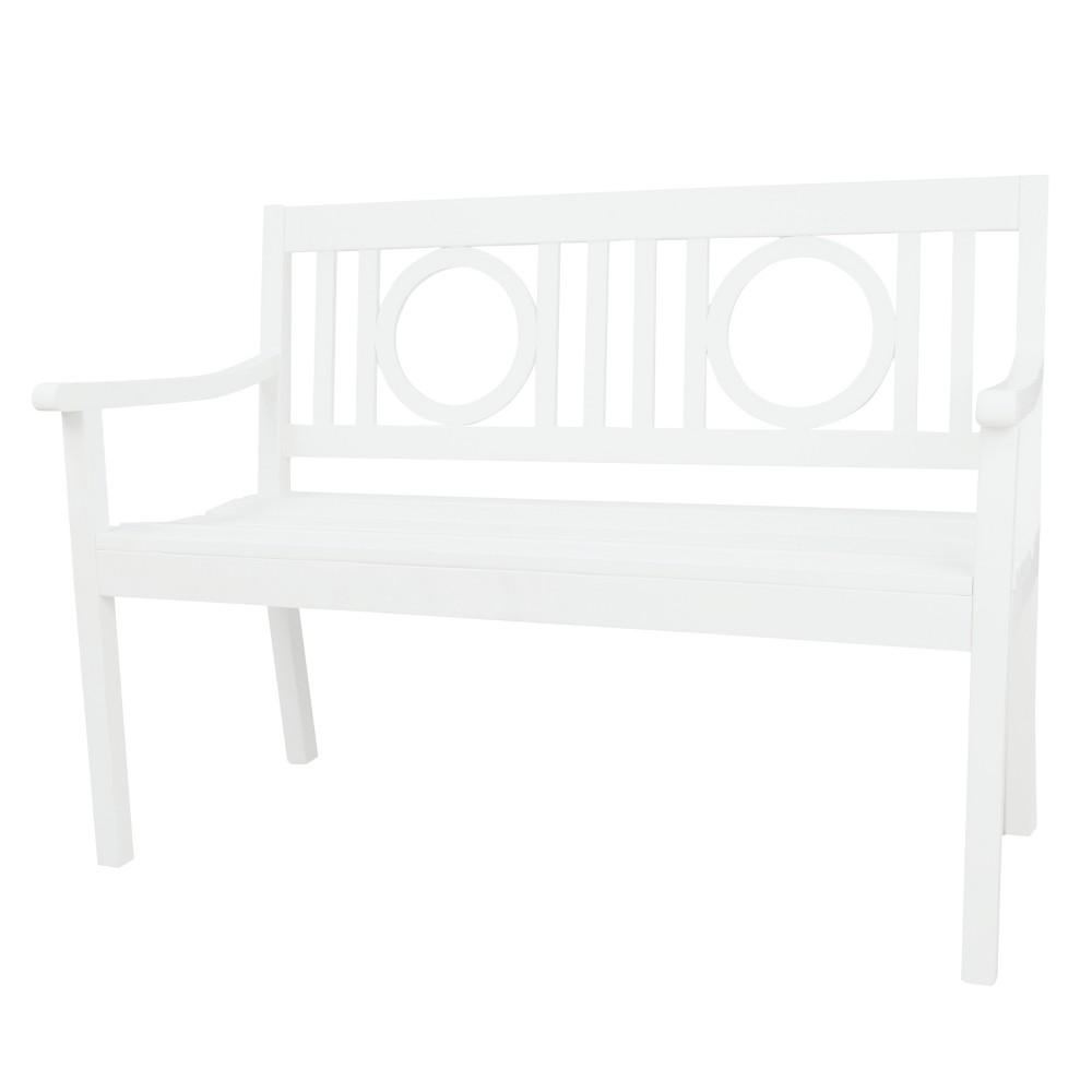 Saybrook Hardwood Outdoor Bench - White