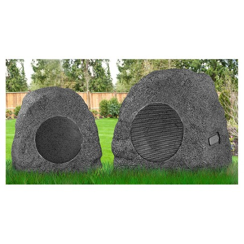Innovative Technology Rechargeable 5 Watt Bluetooth Outdoor Wireless Rock Speakers Pair Target
