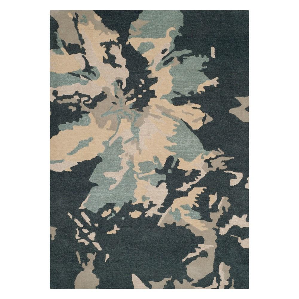 4'X6' Camouflage Area Rug Steel Blue - Safavieh