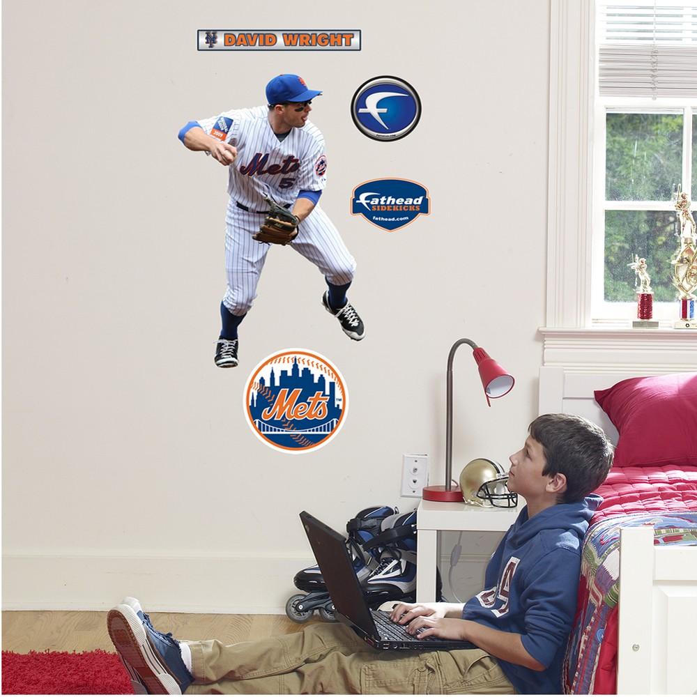 Fathead Junior New York Mets David Wright Wall Decals, Black