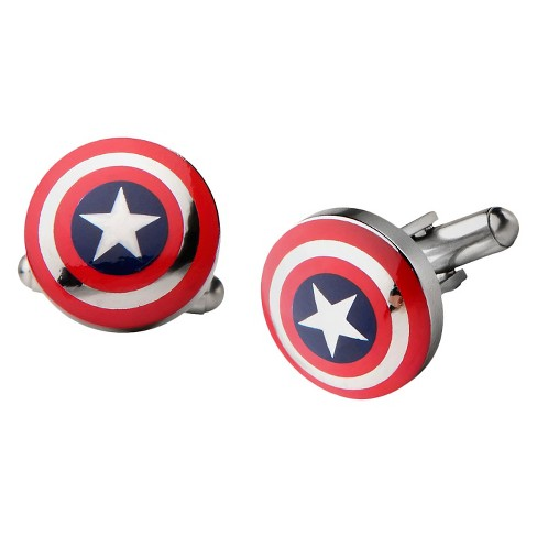 Men's Marvel® Captain America Shield Big Logo Stainless Steel Cufflinks - image 1 of 1