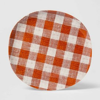 "11"" Melamine Fall Gingham Dinner Plate Red - Threshold™"