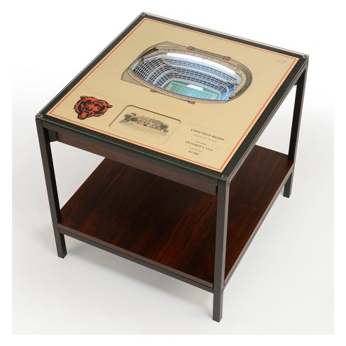 Nfl Chicago Bears 25 Layer Lighted Stadiumview End Table