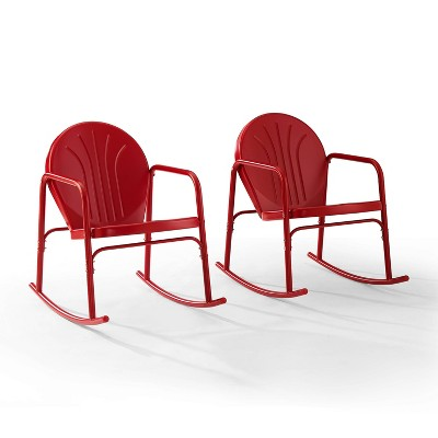 Griffith Set of 2 Metal Rocking Chairs - Crosley
