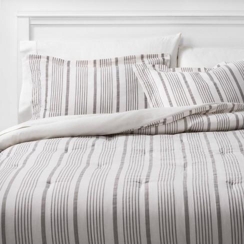 Classic Stripe Comforter Sham Set, Target Gray Bedding Sets