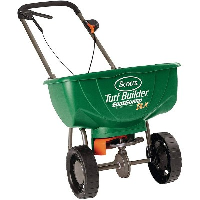 Scotts Turf Builder with Edgeguard DLX Broadcast Spreader