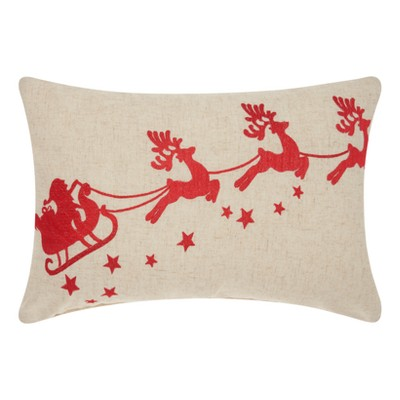 Red Santa Throw Pillow - Mina Victory