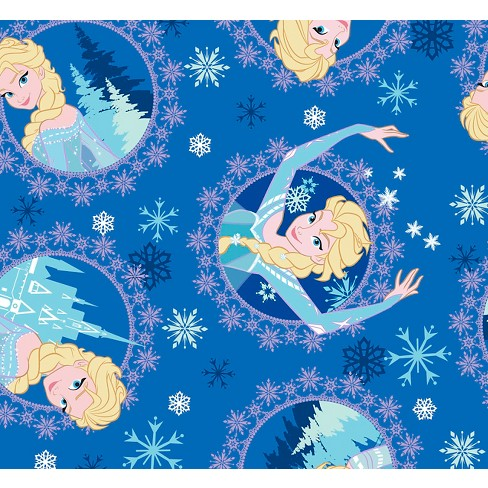 "Disney Frozen Elsa Framed, Blue, Corduroy, 43/44"" Width, Fabric by the Yard - image 1 of 1"