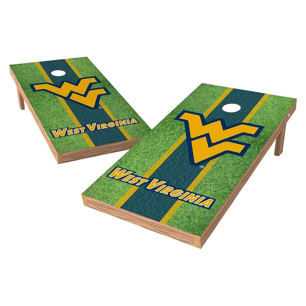 West Virginia Mountaineers Wild Sports 2' x 4' Field Design Authentic Cornhole Set