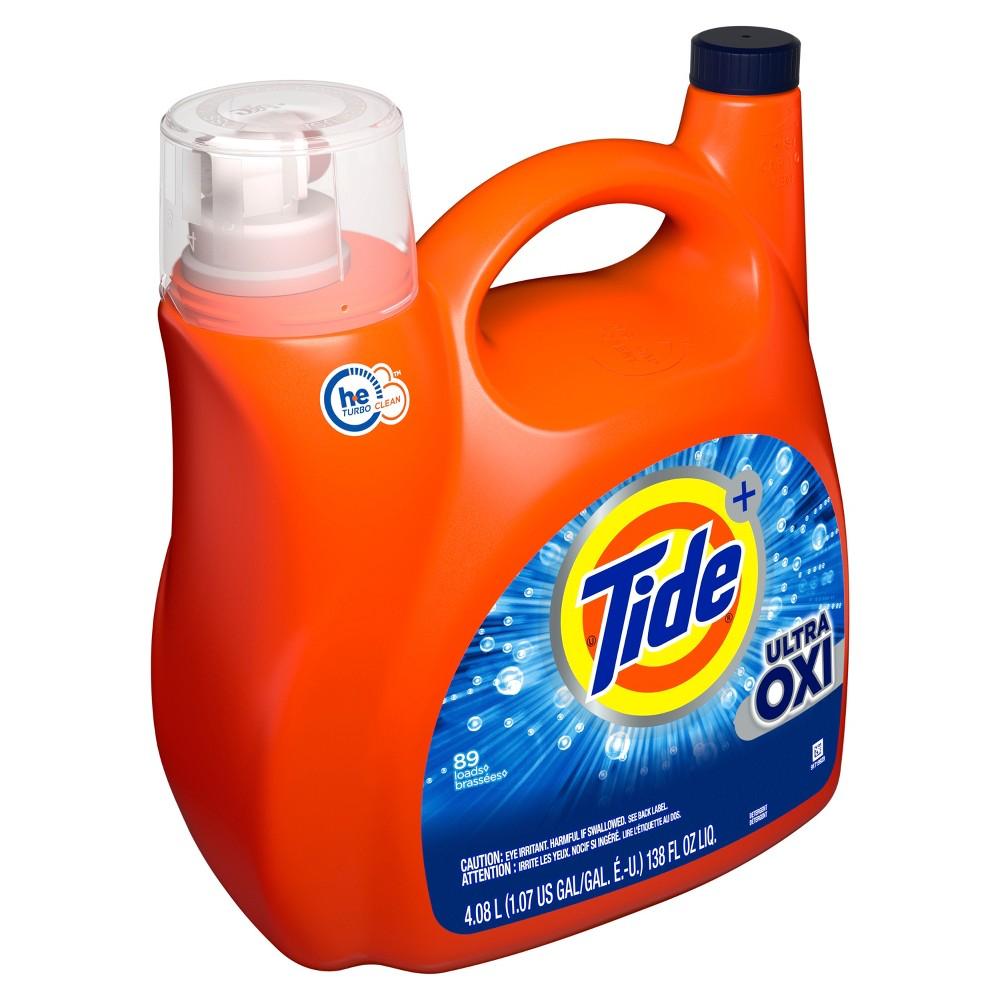 Tide Plus Ultra Oxi Liquid Laundry Detergent - 138 fl oz