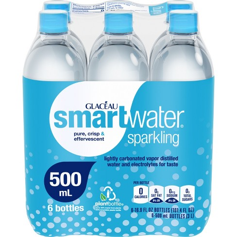 Glaceau smartwater Sparkling - 6pk/500ml Bottles - image 1 of 4