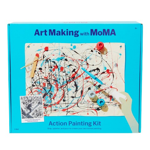 Art Making with MoMA Action Painting Kit - image 1 of 5