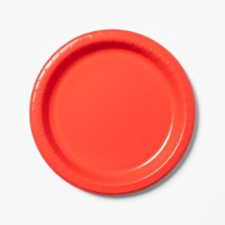 "Red Paper Plate 10"" - 34ct - Up&Up™"