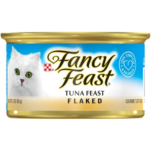 Purina Fancy Feast Flaked Tuna Feast Wet Cat Food - 3oz Can - image 1 of 4