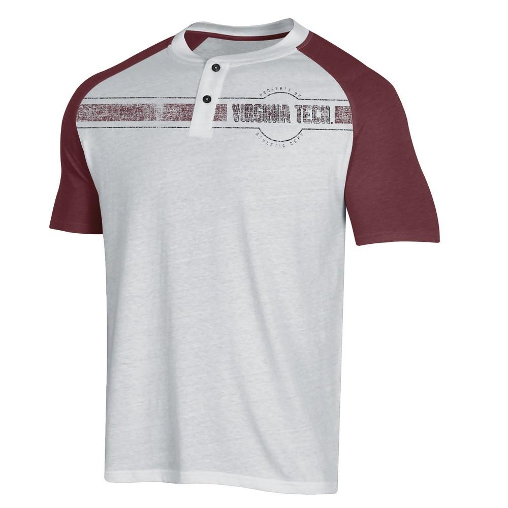 NCAA Men's Raglan Henley T-Shirt Virginia Tech Hokies - M, Multicolored