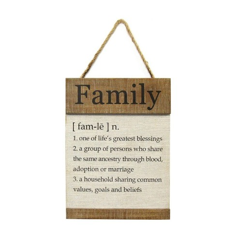 11 81 X 15 75 Family Definition Wall Dcor Natural White Stratton Home Dcor Target