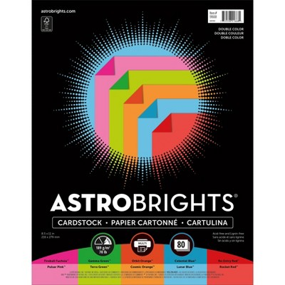 Astrobrights Cardstock Paper, 70 lbs, 8.5 x 91668