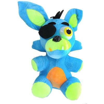 Chucks Toys Five Nights at Freddys 14 Inch Plush | Neon Blue Foxy