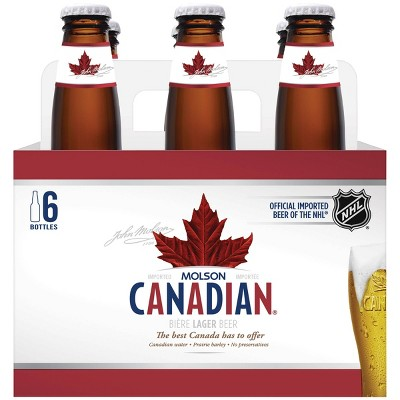 Molson Canadian Lager Beer - 6pk/12 fl oz Bottles