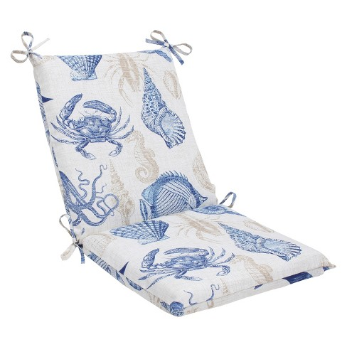 Outdoor Square Edge Chair Cushion - Sealife - image 1 of 1