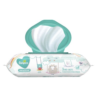 Pampers Baby Wipes Sensitive - 56ct