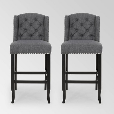 Set of 2 Foxwood Wingback Barstool - Christopher Knight Home