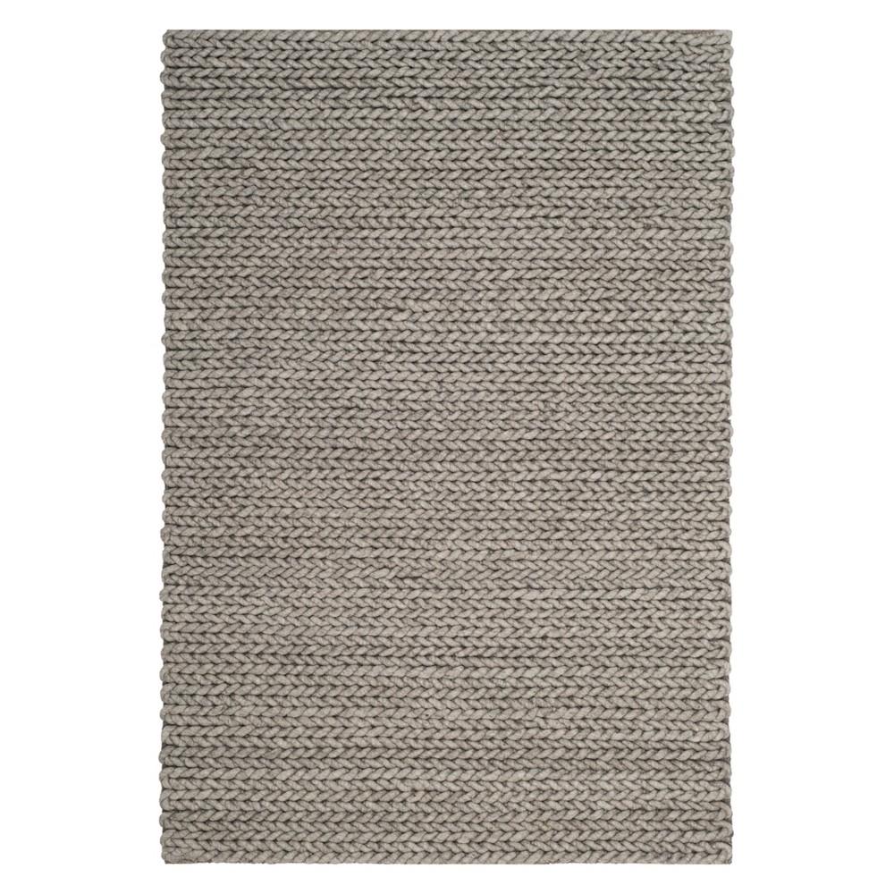 4'X6' Solid Area Rug Gray - Safavieh