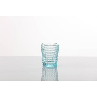 11.5oz 6pk Crystal Malcolm Double Old Fashion Glasses Light Blue - Fortessa Tableware Solutions