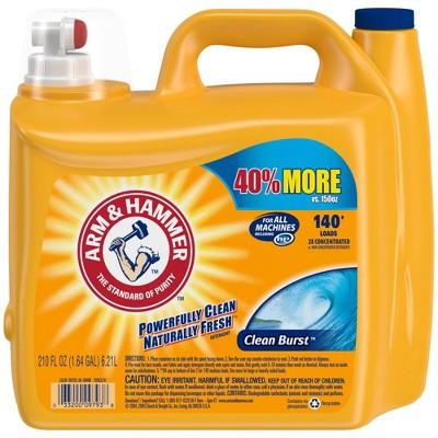 Arm & Hammer Clean Burst Liquid Laundry Detergent - 210 fl oz