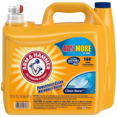 Arm & Hammer Clean Burst Liquid Laundry Detergent - image 1 of 4
