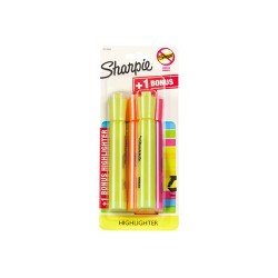 Sharpie 3pk Tank Highlighter With Smear Guard  Multicolor