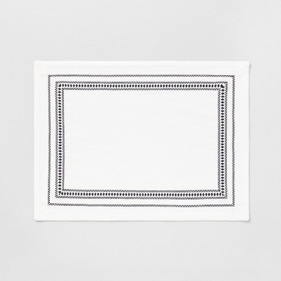 Placemat Off White Black Embroidered - Hearth & Hand™ with Magnolia
