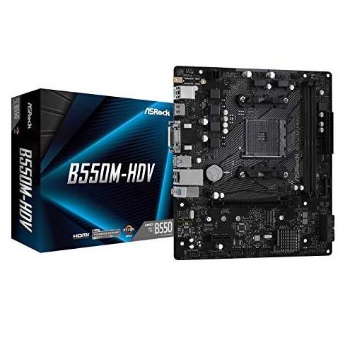 ASRock B550M-HDV Supports 3rd Gen AMD AM4 Ryzen/Future AMD Ryzen Processors Motherboard - image 1 of 4