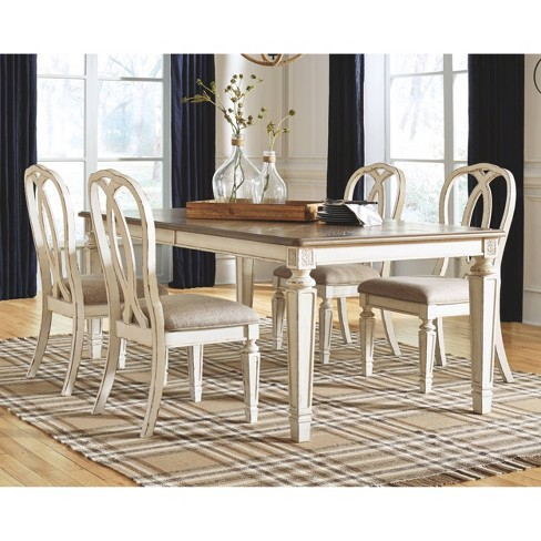 Realyn Rectangular Dining Room Extension Table Chipped White