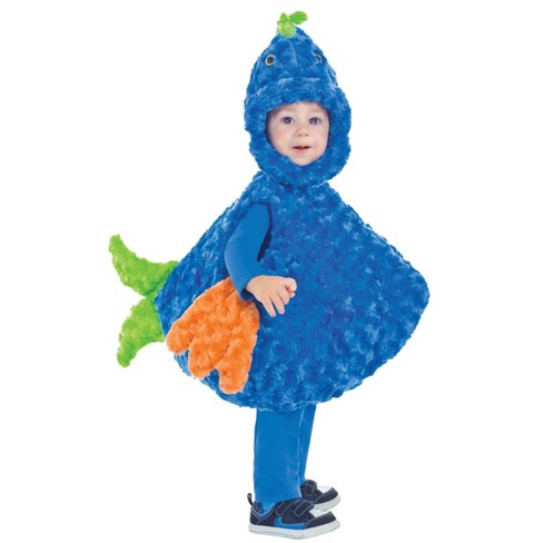 Toddler Big Mouth Blue/Green Fish Halloween Costume - image 1 of 1